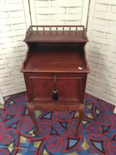 Lot 126: 2003 Bombay furniture company locking side table cabinet