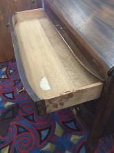 Lot 123: Vintage art deco secretary desk with cabriole legs and flamed wood grain veneer