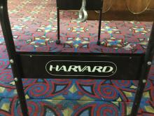 Lot 121: Harvard ping pong table. Comes with stiga 4 paddle set in package