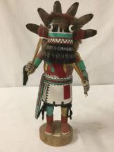 Lot 111: Native American art sculpture - Hopi kachina doll, signed by artist William Lomayaktewa