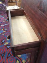 Lot 132: Vintage secretary desk with bottom cabinet