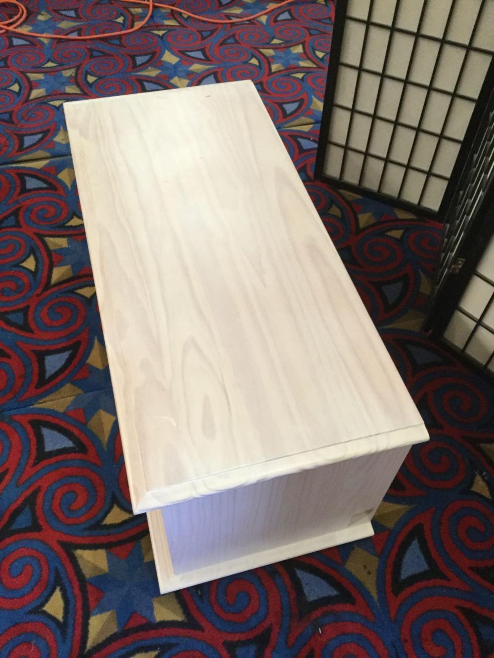 Lot 137: Modern light stained blanket chest