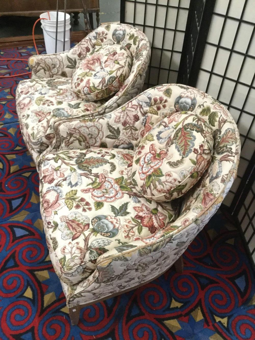 Lot 139: Vintage Tomlinson chairs that have been custom upholstered by T&M in Tacoma, WI