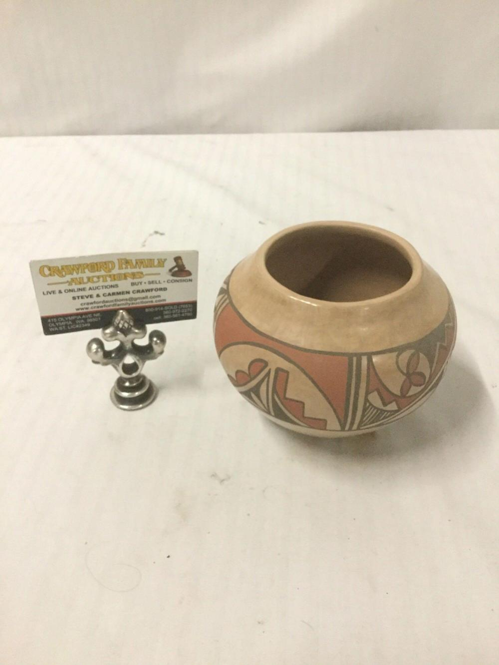 Unmarked Hopi Hand Painted pottery vase