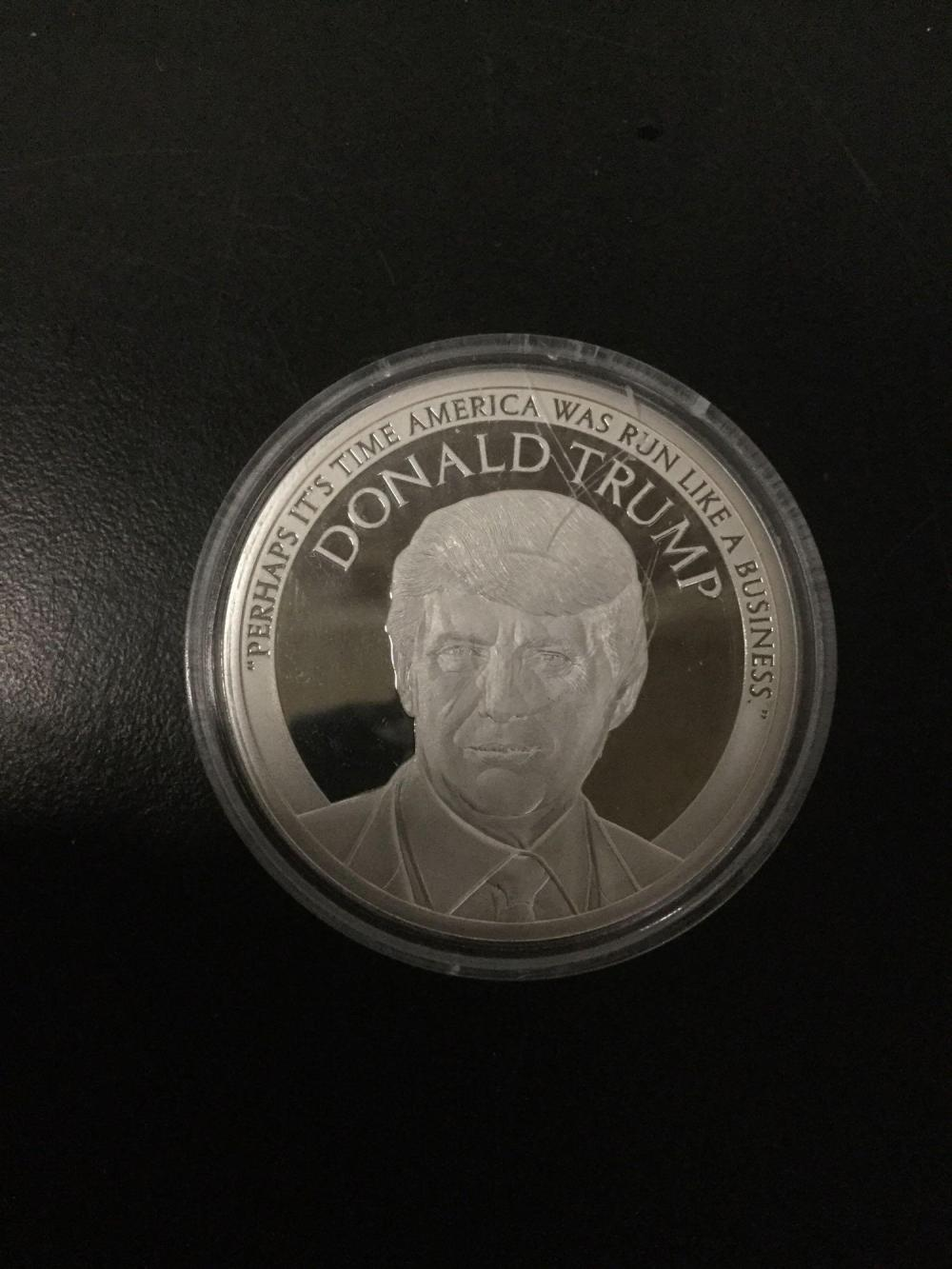 Lot 176: Donald Trump Make America Great Again 1 Oz Silver Round Coin