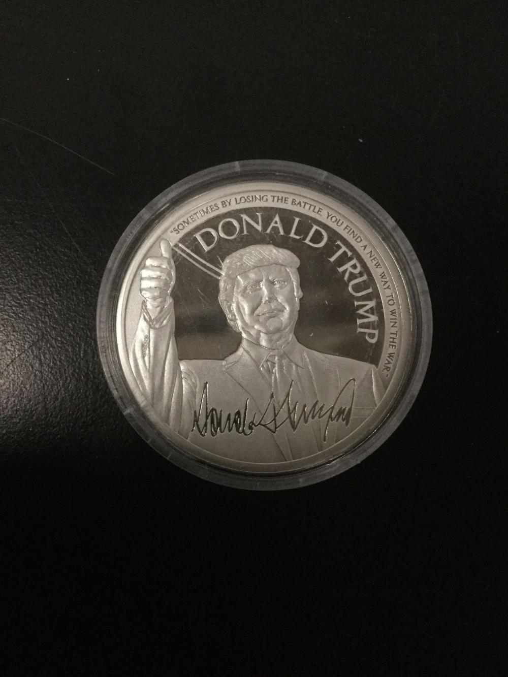 Lot 175: Donald Trump Make America Great Again 1 Oz Silver Round Coin