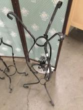 Lot 398: Lot of 5 vintage metal plant stands