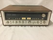 Lot 211: Vintage 70s Sansui 9090 Stereo Receiver. Powers on, but needs some work. Appraised at $665
