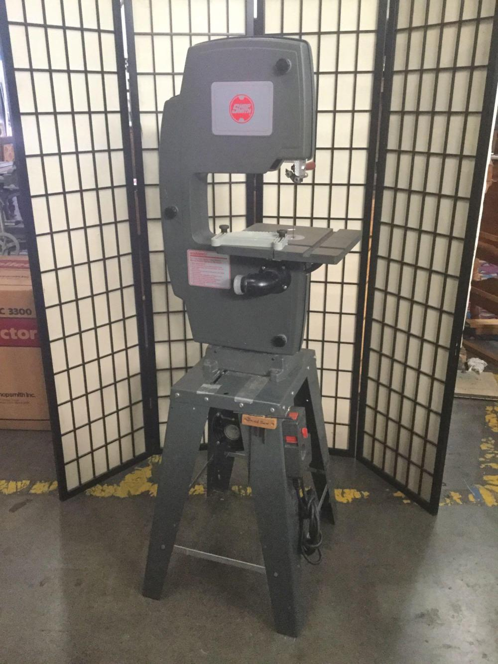 Lot 238: Shop smith 11 inch band saw. Tested and working