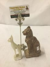 Lot 247: Pair of stone Egyptian Style Cat figures - nice decor