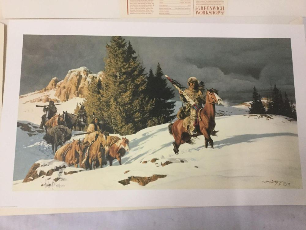 Lot 254: LTd Ed Litho - Frank McCarthy - Before the Norther - by Greenwich Workshop signed & #'d 758/1000