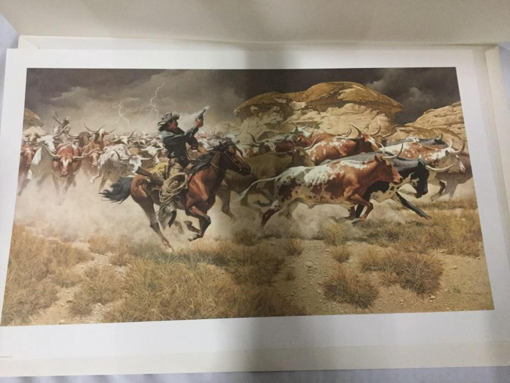 Lot 257: Ltd Ed litho by Frank McCarthy - Turning the Leaders from Greenwich signed and dated by the artist