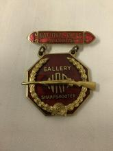Lot 272: Lot of 3 vintage NRA medals by Blackinton - Gallery Expert, Sharpshooter, Marksman