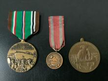 Lot 276: 6 antique US military medals; 1912 Nicaraguan Campaign, 1941-45 Euro Middle Eastern campaign etc