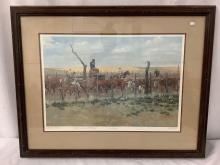Lot 287: Vintage framed artist proof print, signed & inscribed by artist - The Tally Gate by Bud Helbig