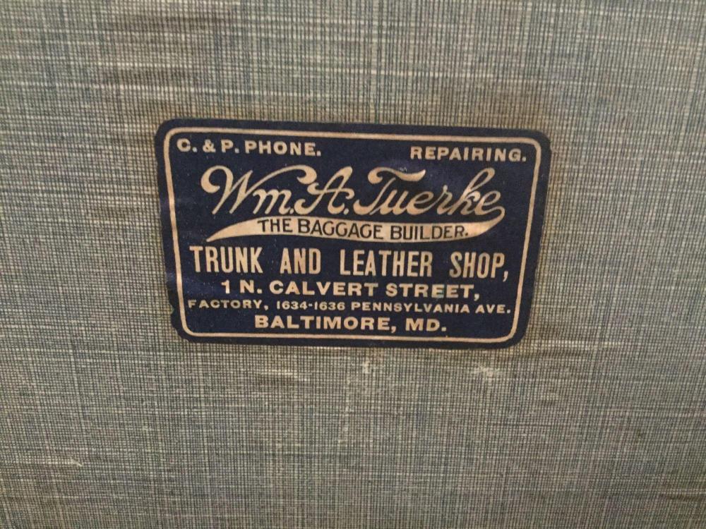 Lot 336: Antique WM A Tuerke Baggage builder made ornate steamer trunk