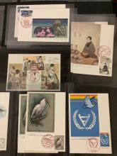 Lot 351: Collection of 35 vintage Japanese postcards with matching stamp by Japan Stamp Publicity Association