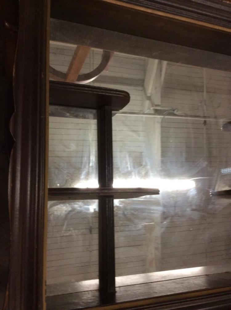 vintage wall hanging bar back shelf mirror. Black Bedroom Furniture Sets. Home Design Ideas