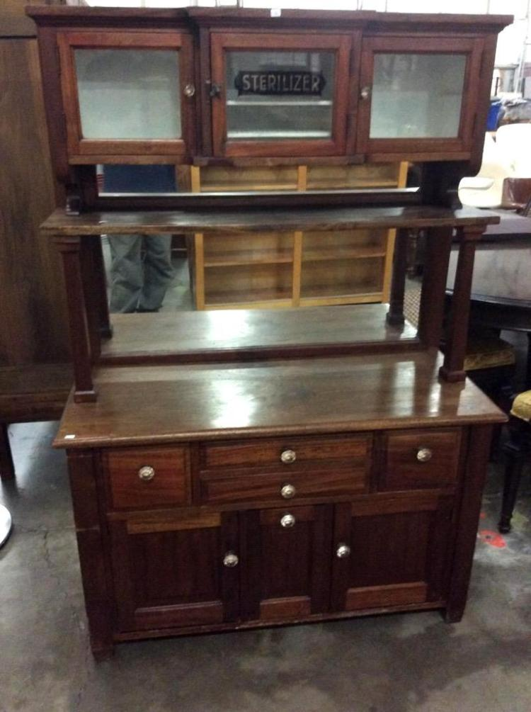 Late 1800 39 s dentists sterilizer cabinet in restored condit for Furniture auctions uk