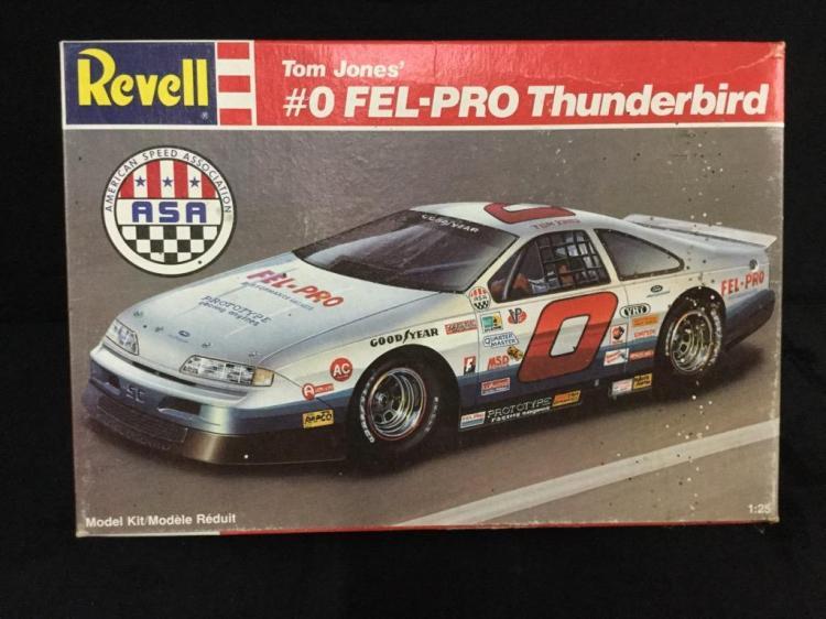 A Revell #0 Fel-Pro Thunderbird 1:25 scale plastic model