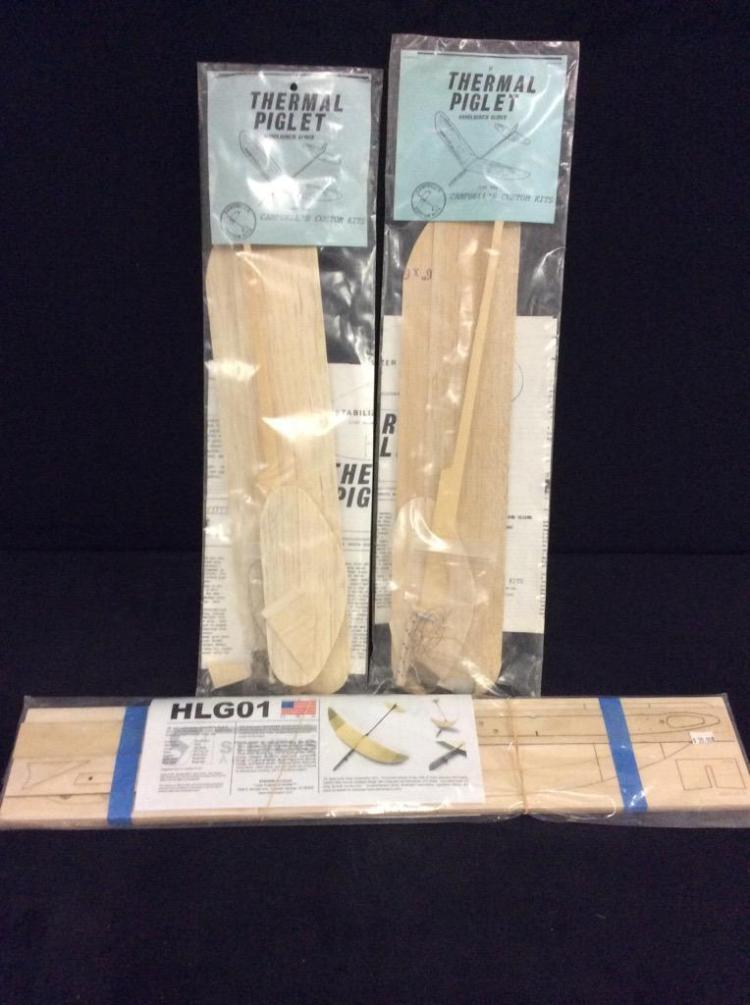 3 balsa and tissue glider kits.