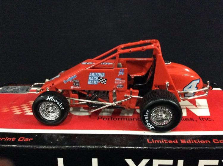 A limited Edition J.J. Yeley sprint car in die-cast by Action models