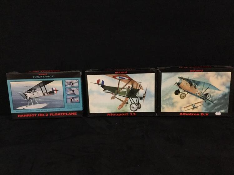 1 Albatros D.V 1 Nieuport 11 and 1 Hanriot HD.2 Floatplane all by Eduard
