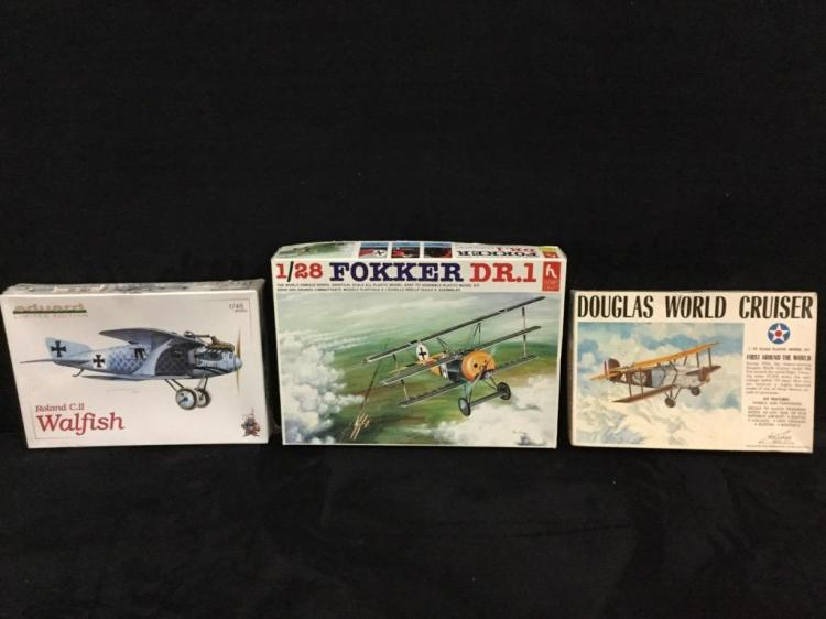 1 Eduard 1 Hobbycraft and 1 Williams Bros model airplane kits