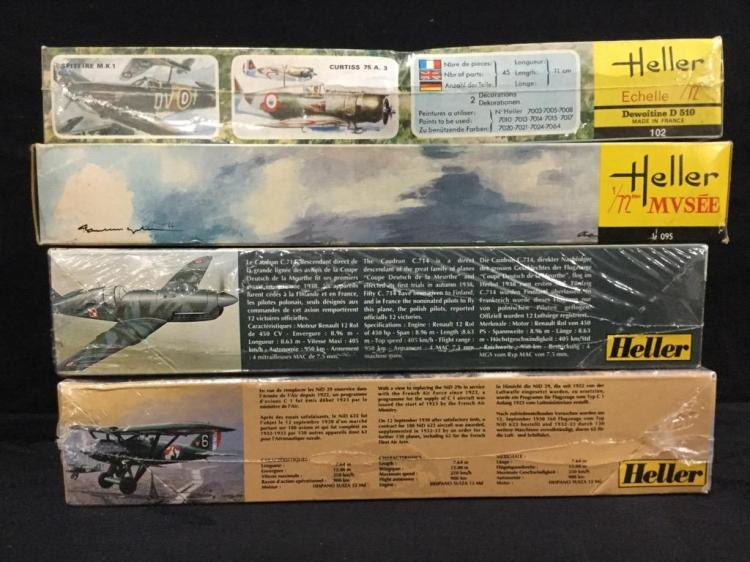 4 Heller military fighter model airplane kits