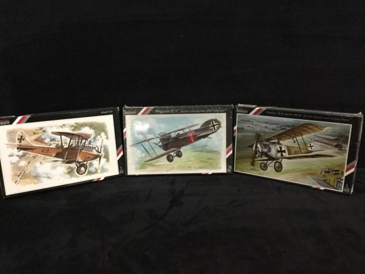3 Special Hobby model airplane kits