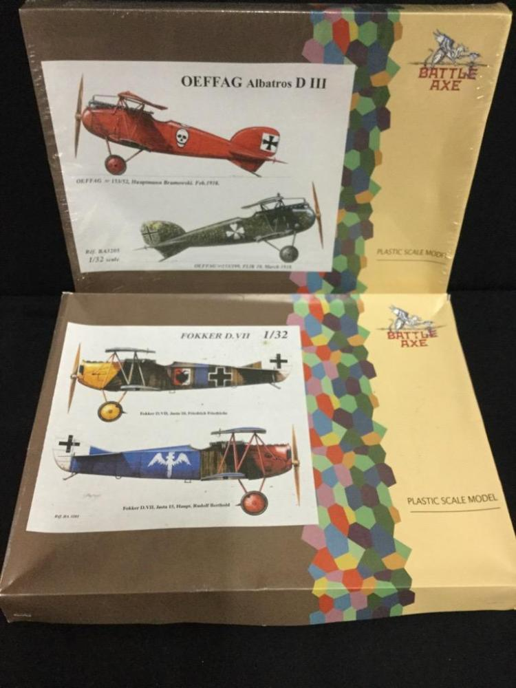2 Battle Axe World War 1 era fighter model airplane kits