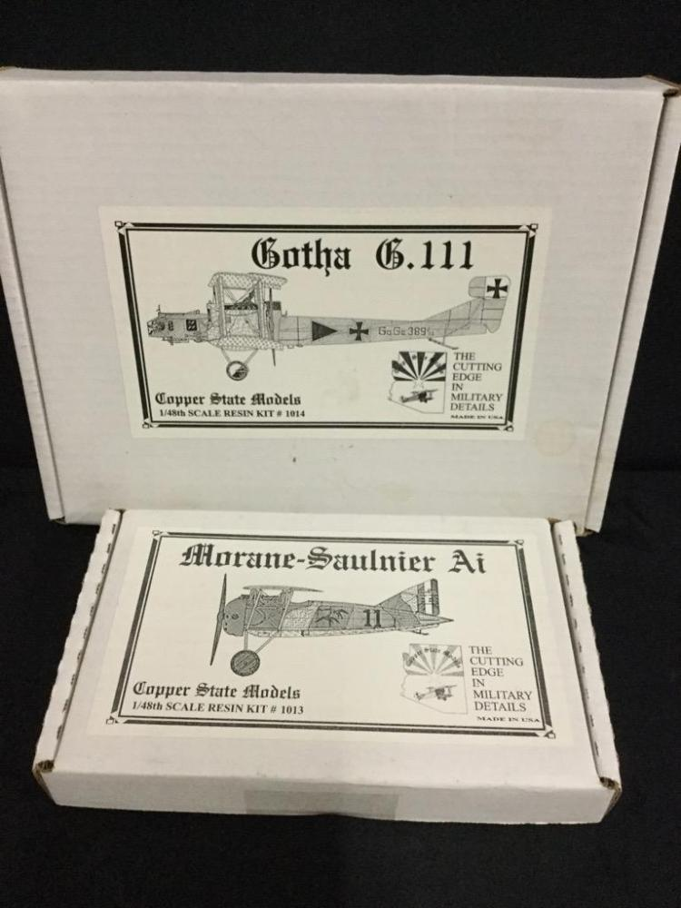 1 Gotha G.111 and 1 Morane-Saulnier Ai model airplane kits-(Copper State Models)