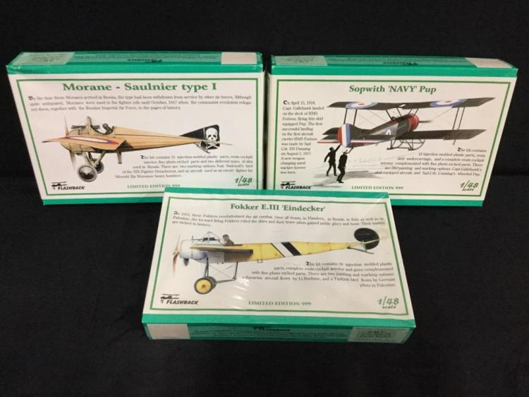 3 Flashback military fighter airplane model kits