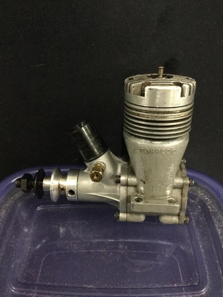 A vintage Torpedo .40 2 stroke control line motor newly rebuilt