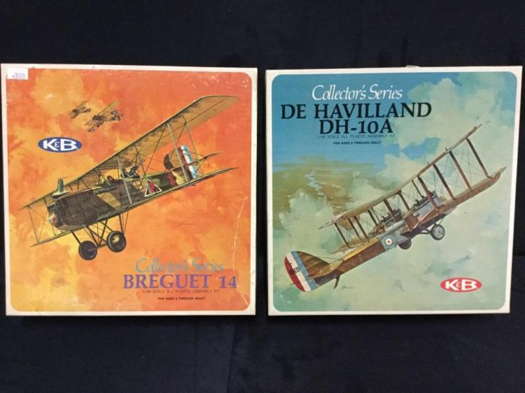2 K&B Collector's series model airplane kits