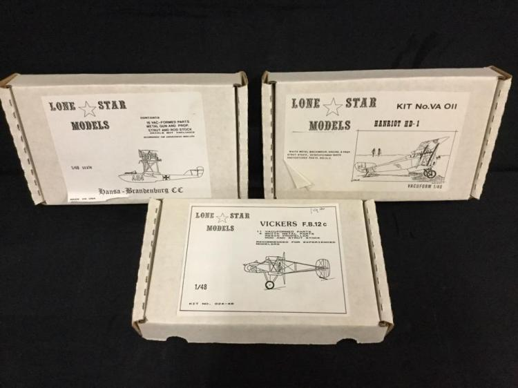3 Lone Star Models 1:32 scale model airplane kits