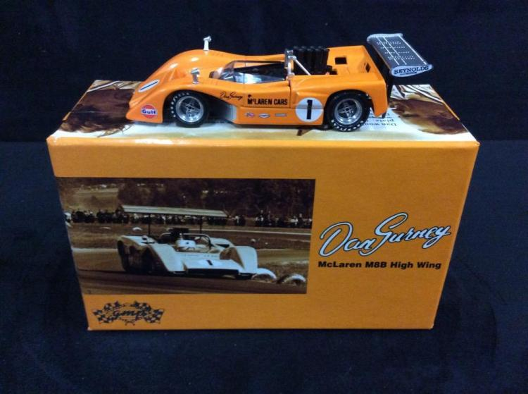 GMP Dan Gurney McLaren M8B High Wing model in box