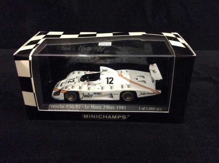 Mini Champs 1981 Le Mans Porsche 936 model car in box