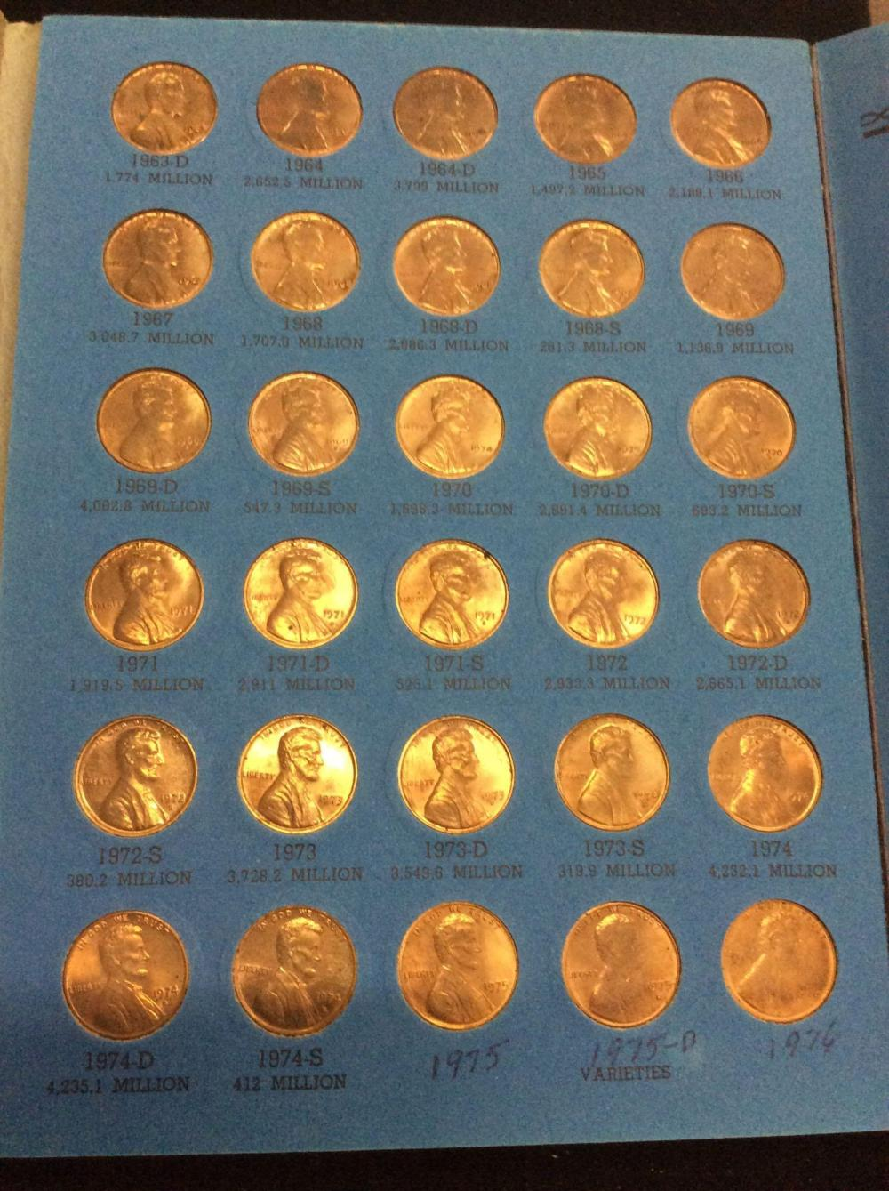 4 lincoln penny collector books, 1909-1940 and 1959-1997