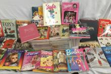 Huge collection of doll collecting books & mags incl. Mattel Barbie, Elvis paperdolls, MJ Hummel +