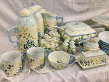 HUGE set of Tracy Porter Annette Blueberry dishes incl. Tureens, Serving Bowls, Pitchers, Plates +