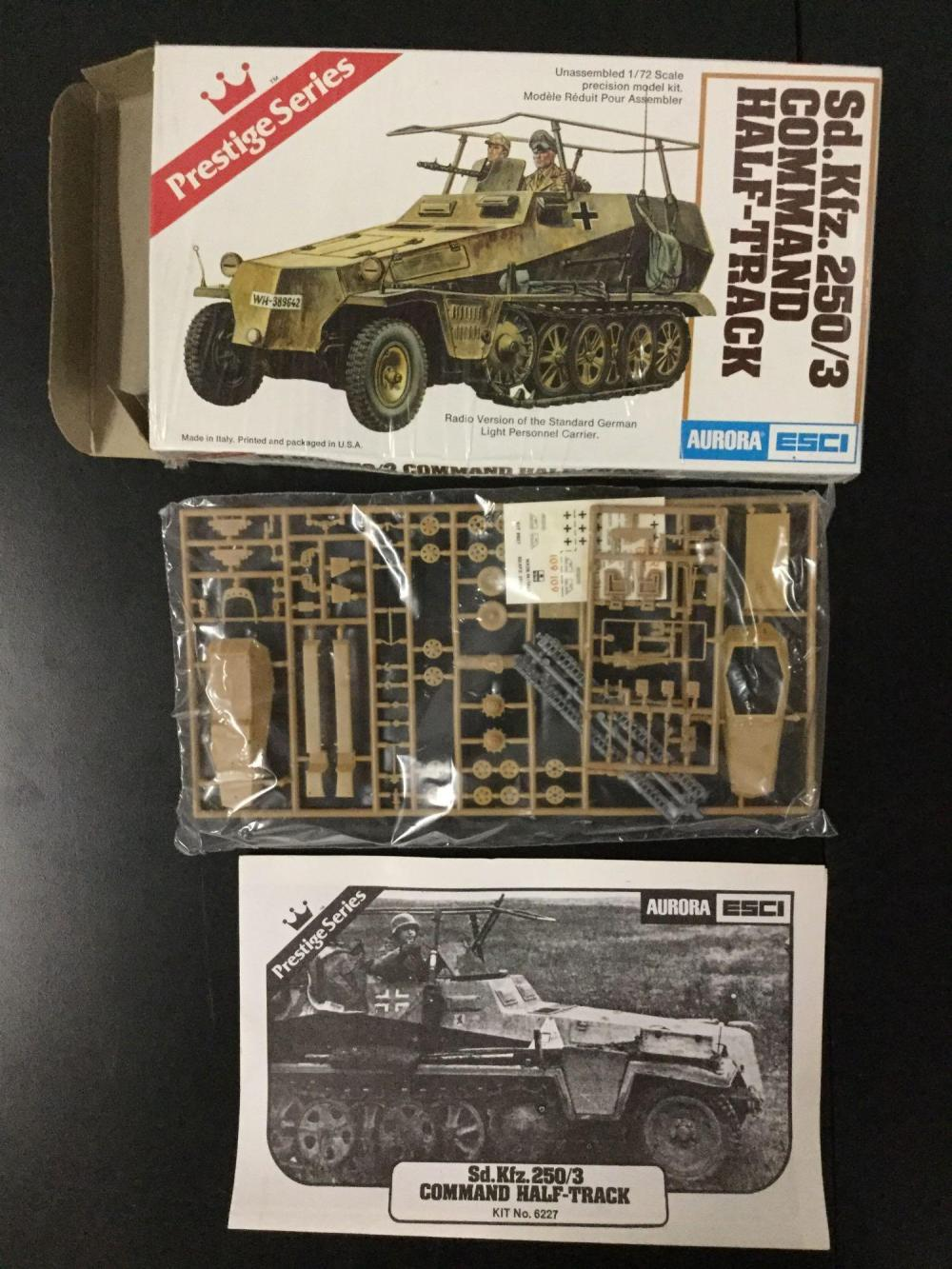 6x Aurora-ESCI military plastic model kits, 1/72 scale