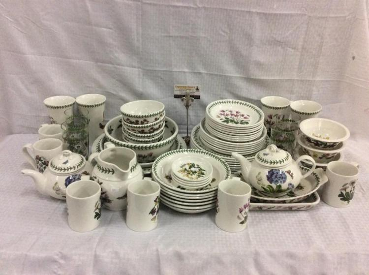 68 pc set of the botanic garden china dinnerware set by port for Portmeirion dinnerware set of 4 botanic garden canape plates