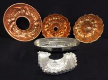 Selection of vintage mold - aluminum fish and coppered molds