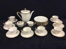 29 piece set of hutschenreuther bavarian china - white and gold