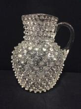 Amazing Antique Fostoria? Hobnail Crystal Pitcher - early 10's-20's