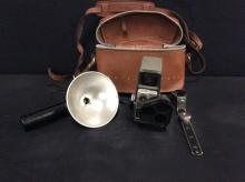 Vintage Bell & Howell Film camera with case - fair to good cond