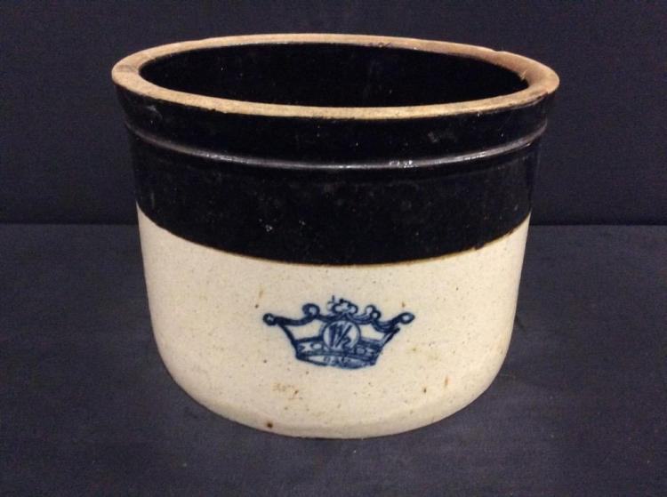 Vintage 1.5 gallon Ransbottom Crock - two tone - rare!