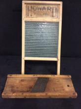 Primitive washboard and kraut cutter/mandolin