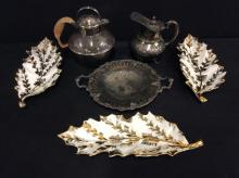 Set of three antique french limoges